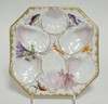 HAND PAINTED OYSTER PLATE W/FISH, CORAL, ETC. 7 7/8 IN.