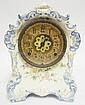 CHINA CASE CLOCK; NO. 18K IMPRESSED UNDERGLAZE ON