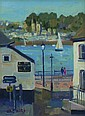 Eric Ward The Russell Inn Oil on canvas 24 x 18 cm