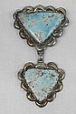 Antique Navajo Robin Egg Turquoise Pin