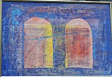 Modern Artist 20th Century, Abstract composition, water colour on paper, under glass, framed  46