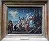 Eugene Delacroix (1798-1863)-school, Oil study with orientals andprisoners, oil on canvas, framed., Eugene Delacroix, €750