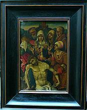 Hans Memling (1440-1494)-follower, Deposition from