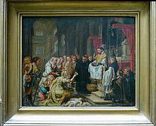 Simon de Vos (1603-1676)-attributed, Scene in a