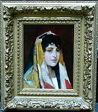 Eugen von Blaas (1843-1932)-attributed, Portrait