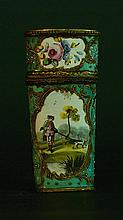 Baroque Necessaire Box, Multicoloured and painted