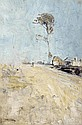 Arthur Streeton 1867 - 1943 A ROAD TO THE KURRAJONG, c1896 (also known as SUMMER HEAT)  oil on wood panel
