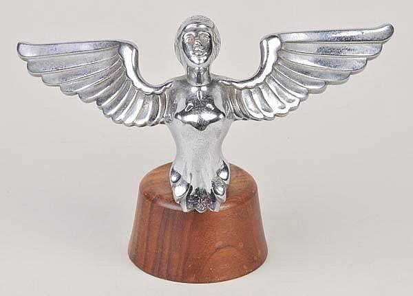 Car Mascot - Winged Nymph. An early post-war