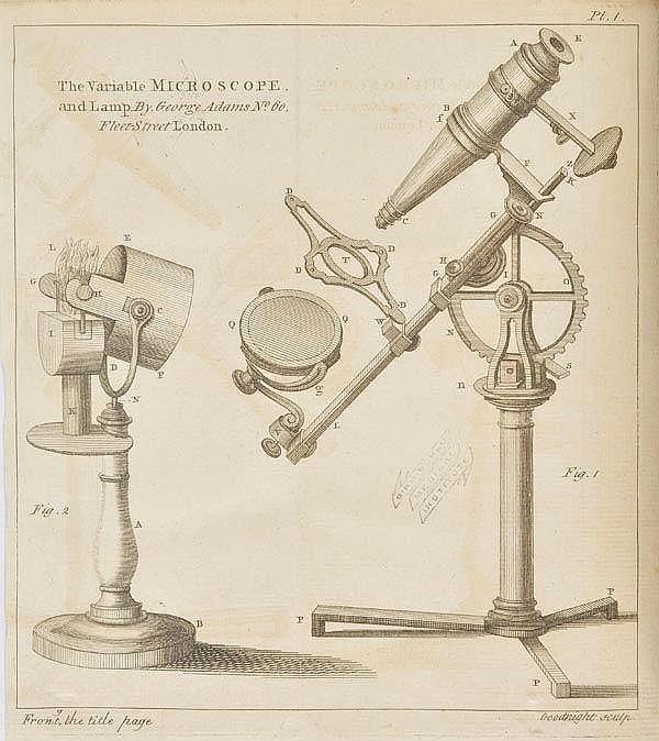 Adams (George). Micrographia Illustrata: or the