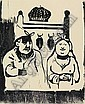 Paul Gauguin (born Paris 1883) Amusing Shapes, wood-cut, image size 20 x 16 cm, Sheet, Pola Gauguin, Click for value