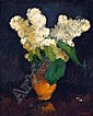 Heinrich Krause (Rodaun 1885-1985 Vienna) Bunch of Syringa, inscription to the label verso, signed Krause, Oil on canvas, 42 x 34 5 cm, framed, (K), Heinrich Krause, Click for value