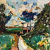 Phillip Sutton (b. 1928) - Road to Broom Copse, 1960