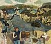 Gwyneth Johnstone (1915-2010) - Cornish Fishing Village