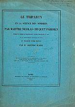 Chuquet (Nicolas) - Le Triparty en la Science des Nombres...,