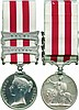 INDIAN MUTINY MEDAL, 1857-1858, 2 clasps, Lucknow, Delhi ; officially impressed