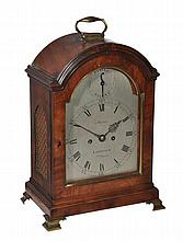 A George III mahogany bracket clock, Martin, London, Late 18th century