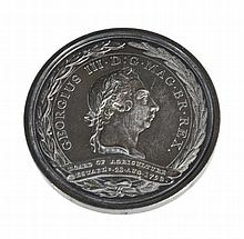 Board of Agriculture 1793, silver prize medal awarded 1806, by Conrad Kuchler