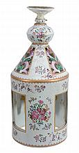 A Chinese Export famille rose porcelain lantern of cilindrical shape
