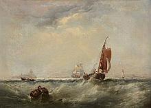Edwin Hayes (1820-1904) - Vessels off the coast