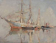 Maurice Blieck (1876-1922) - Continental harbour scene