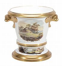A Spode porcelain two-handled jardiniere and stand, circa 1812