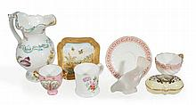 An assortment of Coalport, other Staffordshire porcelain and a Lalique bird