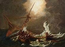 English School (19th century) - The wreck