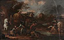 Dutch School (18th century) - A skirmish