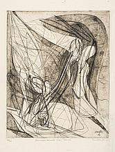 Stanley William Hayter (1901-1988) - Personnages menaces d'une flamme (B.&M.151;)