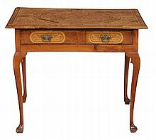 A walnut and seaweed marquetry side table, circa 1700 & later