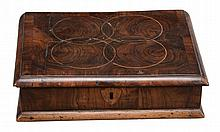 A William and Mary or Queen Anne walnut and oyster veneered box