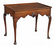 A mahogany silver table in George II Irish style, 19th century