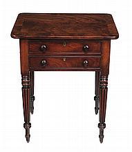 A William IV mahogany lift top work table , circa 1830