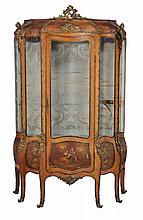 A French kingwood and ormolu mounted vitrine , circa 1880