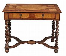 A walnut and seaweed marquetry side table in William & Mary style