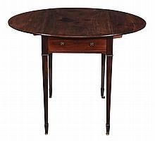 A George III mahogany oval Pembroke table , circa 1780
