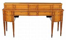 A Regency mahogany, birds eye maple and tulipwood banded sideboard, circa 1815
