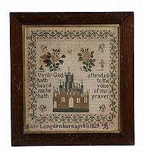 A William IV or early Victorian needlework sampler