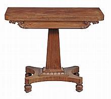 A William IV mahogany tea table, circa 1835