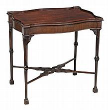 A mahogany silver table in George III style, late 19th/early 20th century