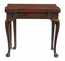 A George II mahogany card table, circa 1740