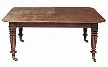 A William IV mahogany dining table, circa 1835