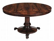 A William IV rosewood centre table, circa 1835