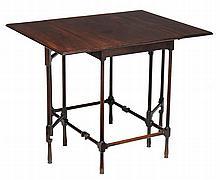 A George III mahogany spider leg pembroke table, circa 1790