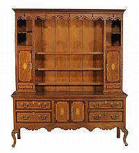An oak and inlaid dresser, first quarter 19th Century