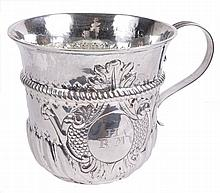 A George II silver cup by Richard Bayley, London 1736