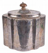 A George III silver serpentine outline straight-sided tea caddy by Henry...