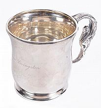An American silver baluster christening mug by Dominick & Haff, New York, 1901