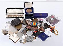 British Commemorative medals in silver and base metal, a quantity