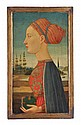 Manner of Piero Pollaiuolo, Profile of a woman,